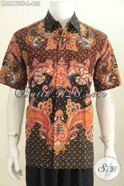 Baju Pakaian Pria Busana Kemeja Pendek Motif Batik Murah 3 baju batik pria terbaru hem batik lengan pendek kwalitas