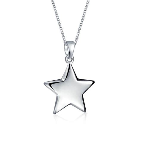 Sterling Silver Pendant Necklace patriotic pendant necklace 925 sterling silver 16 inches