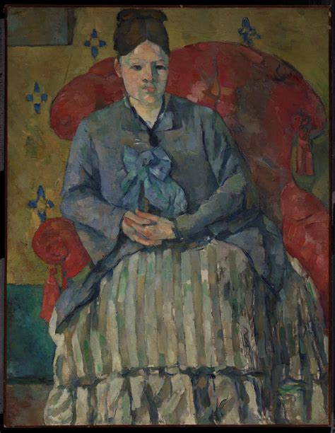 madame cezanne in a red armchair art history news
