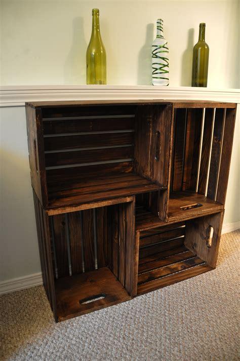 badezimmer regal aus weinkisten wooden crate bookcase wohnideen regal aus