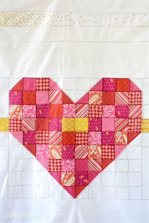 Patchwork Hearts - cupid s arrow a patchwork quilt pattern the polka
