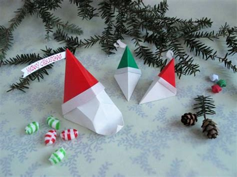 How To Make Paper Santa Claus - origami santa claus easy crafts