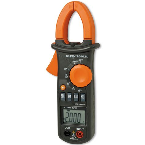 Digital Cl Meter 600a 600a ac cl meter cl100 klein tools for professionals since 1857