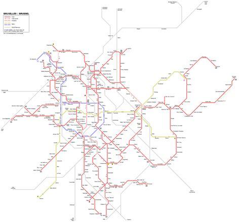 transport map brussels транспорт брюсселя 2017 метро трамвай автобусы такси
