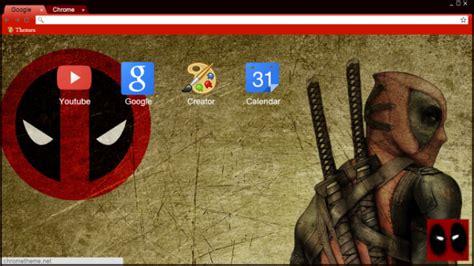 google themes deadpool deadpool chrome theme themebeta