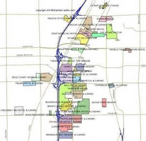 Strip Map Las Vegas by Las Vegas Strip Map