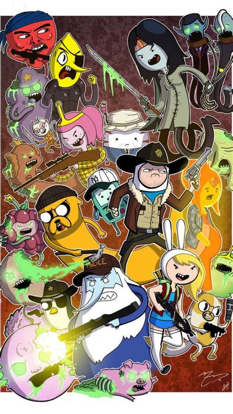 Adventure Time Wallpaper 2 Iphone All Hp adventure time poster 2 iphone 5 wallpaper 640x1136