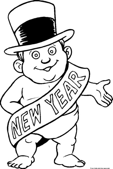 new year baby coloring page printable new years baby coloring sheet for kidsfree