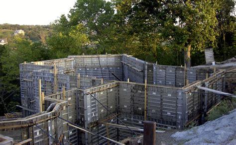 basement concrete forms concrete basements poured with aluminum concrete forms or