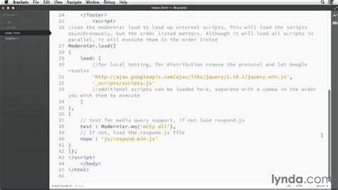 github tutorial lynda modifying files