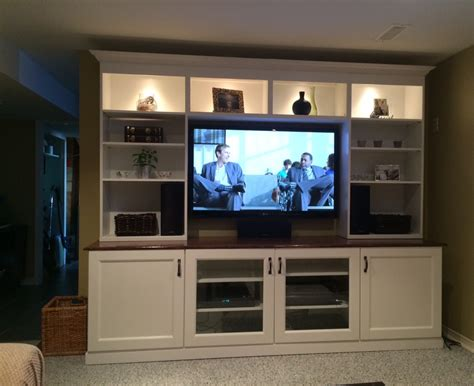 Ikea Besta Wall Unit Ideas White Ikea Besta Entertainment Center With Recessed