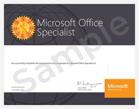 Microsoft Office Specialist Certification microsoft office specialist mos certification simple resume template