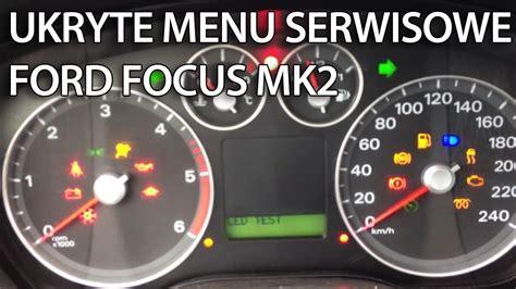 jak wejsc  ukrytego menu serwisowego zegarow  ford