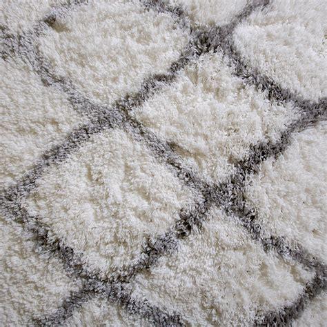 Shag Carpet Area Rugs Rugs Area Shag Rug Modern Moroccan Trellis Lattice Floor Decor Shaggy Carpet Ebay