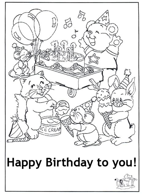 happy birthday cards coloring pages olanessa buzz