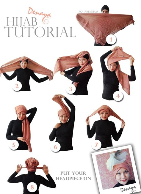 denaya idea hijab tutorial turban style tutorial