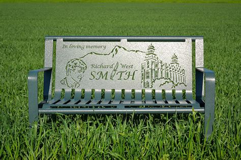 personalized memorial bench custom memorial benches superior laser cutting
