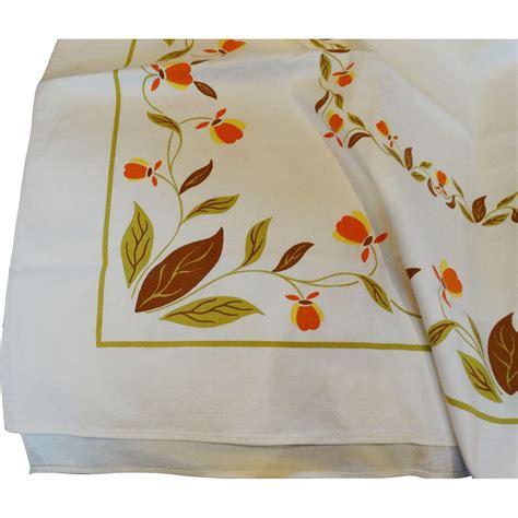 leaf pattern tablecloth hall china jewel tea autumn leaf tablecloth jewel t unused