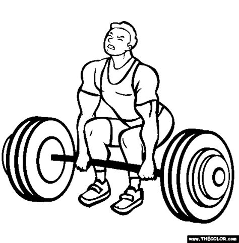 15 coloring pages of weight lifting print color craft
