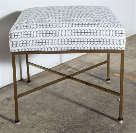 nate berkus furniture paul mccobb brass stools in nate berkus fabric for sale at