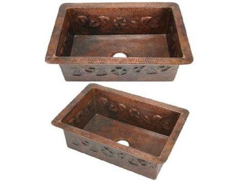 Copper Kitchen Sinks For Sale by Copper Kitchen Sink Flower Design 33x22x9