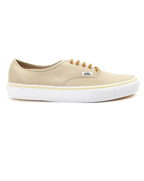beige sneakers for vans authentic canvas beige sneakers in beige for lyst