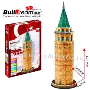 3d Metal Puzzle Galata Tower Istanbul buildream diy 3d puzzle galata tower turkey bd b022 buildream puzzle