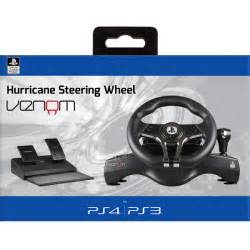 Steering Wheel With Ps4 Hurricane Sony Licensed Steering Wheel For Ps4 Ps3