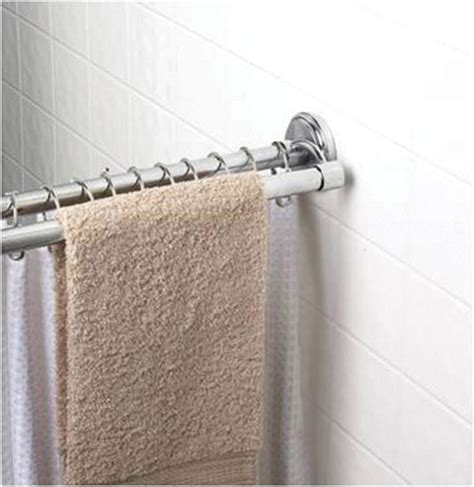 shower curtain rod with towel bar shower curtain rod with towel bar 28 images adjustable