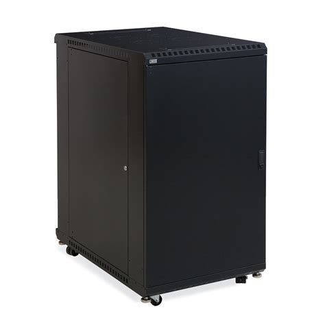22u Server Rack Cabinet by 22u Linier Server Cabinet With Solid Front And Rear Doors
