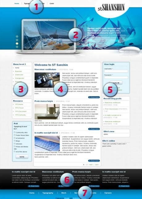 drupal themes layout business drupal template st sanshin drupal blog recent
