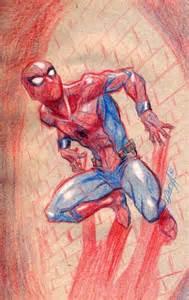 dibujos spiderman color lapiz imprimir imagenes marvel