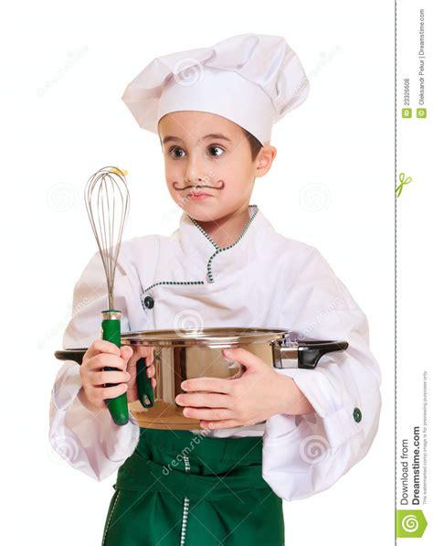 cuisine petit chef petit chef avec l ustensile de cuisine photo stock image