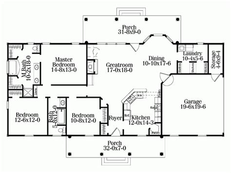 Home Design For Rectangular Plot Rectangle Single Level House Plans Eplans Colonial House