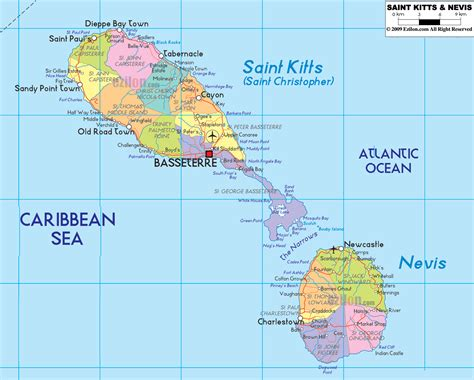 st kitts and nevis map political map of kitts and nevis ezilon maps