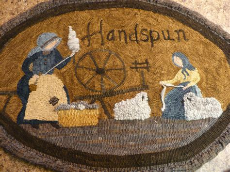 Hooked Rug Patterns Primitive by Primitive Rug Hooking Pattern On Linen Handspun 31 X