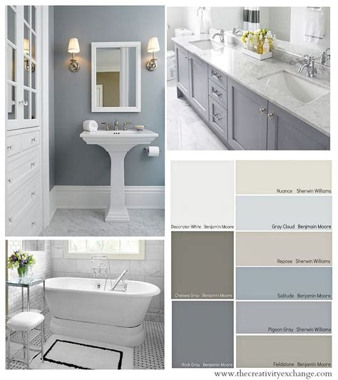 gray paint for bathroom cabinets choosing bathroom wall and cabinet colors paint it monday