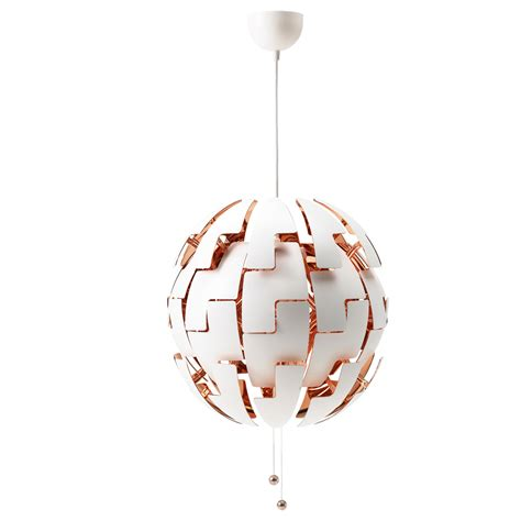 ikea ps 2014 pendant l white copper colour 52 cm ikea
