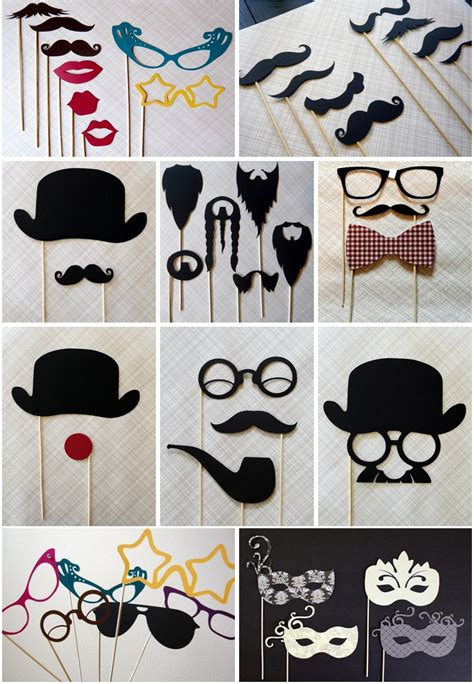 Handmade Photo Booth Props - photobooth props photo booth mustaches copy jpg