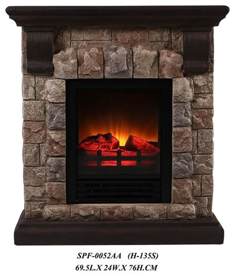 faux portable fireplace small rustic tabletop