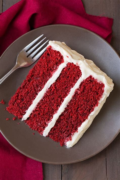 Redvelved Original velvet cake with cheese frosting cooking