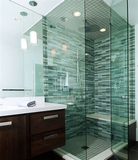 bathroom glass tile ideas 71 cool green bathroom design ideas digsdigs