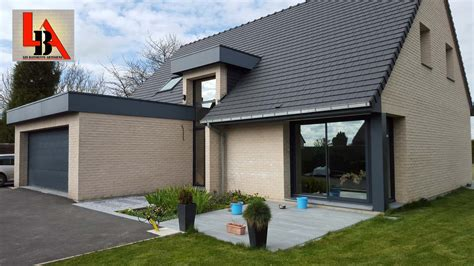tuile brique maison brique contemporaine tuile terre cuite