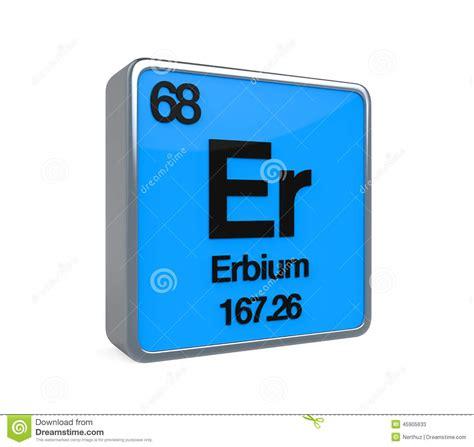 erbium element periodic table stock illustration image
