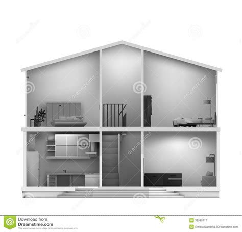 haircut house house cut with interiors vector royalty free stock photography image 32989717