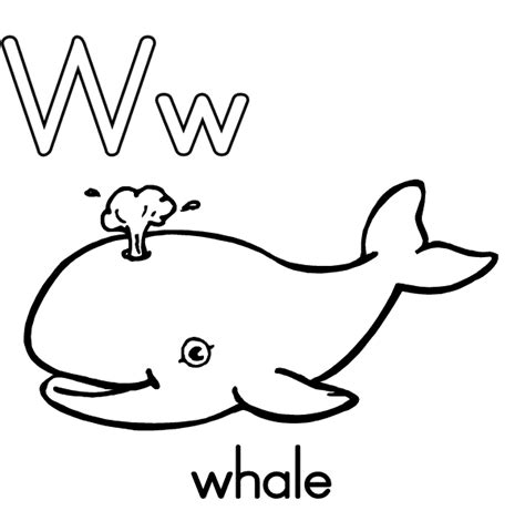 color that starts with w print letter w whale coloring pages alphabet