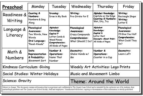 lesson plan schedule template childs week calendar calendar template 2016