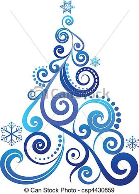 Christmas Tree Stencil - eps vectors of blue christmas tree ornament csp4430859 search clip art illustration drawings