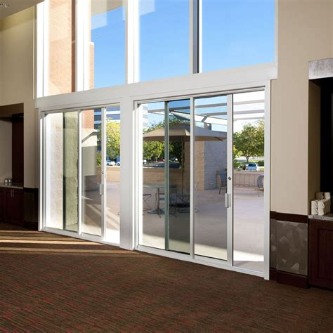 Commercial Sliding Door Systems Aluminum Exterior 990 Sliding Pocket Doors Exterior