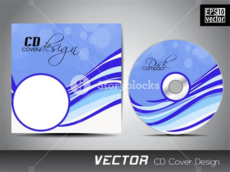 cd cover design vector vector illustration of cd cover design template royalty